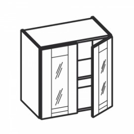 Olivia Soft Górna witryna 2 drzwiowa, 1 półka WW.../64