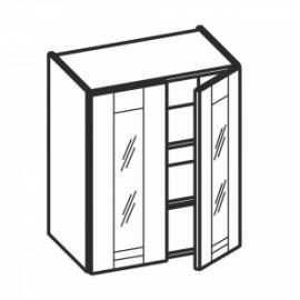 Olivia Soft Górna witryna 2 drzwiowa, 2 półki WW...