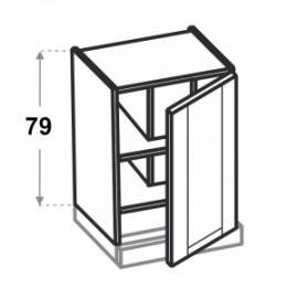 Olivia Soft Górna 1 drzwi wysoka, zabudowa okapu W60.1/79...
